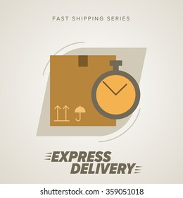 Express Delivery Icon, Cargo Delivery.