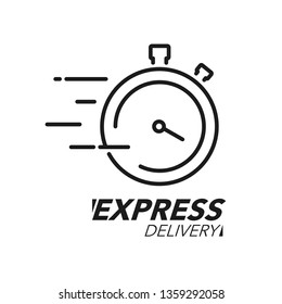 Express delivery icon concept. Stop watch icon for service, order, fast and worldwide shipping. Modern design vector illustration.