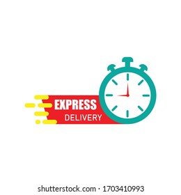 Express delivery icon design isolated on white background