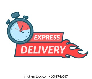 Express delivery icon in line art style design for apps and website. Delivery concept. Vector illustration in flat style. EPS10.