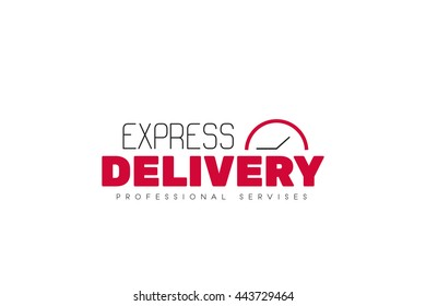 Express delivery logotype or sign. Simple flat design. Stock vector