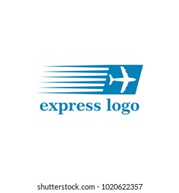 express delivery plane icon vector illustration