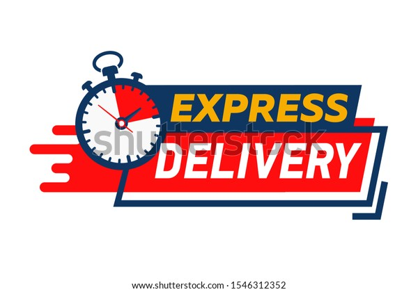 Express Delivery Service Logo Fast Time Stock Vector (Royalty Free)  1546312352