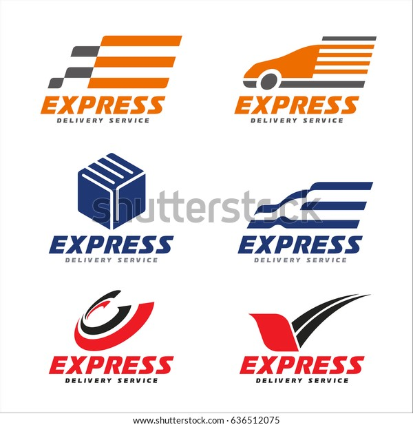 Express Delivery Service Logo Transport Car Stock Vector (Royalty Free)  636512075