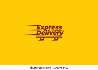 Express Delivery Shipping Fast Cargo Package Company Mascot  Logo