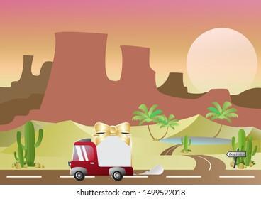 Concept Art Desert Truck