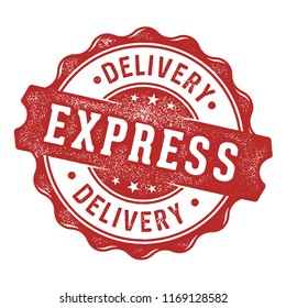 Express delivery vector label/stamp