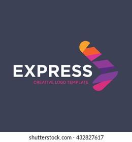 Express Logo. Arrow logo