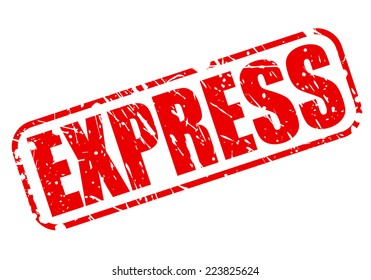 Express red stamp text on white