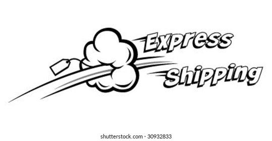 express shipping vector icon. Ideal for delivery and courier usage
