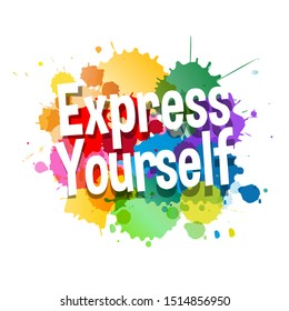 Express yourself on speech bubble