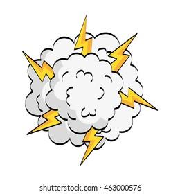 expression comic pop art icon vector illustration design