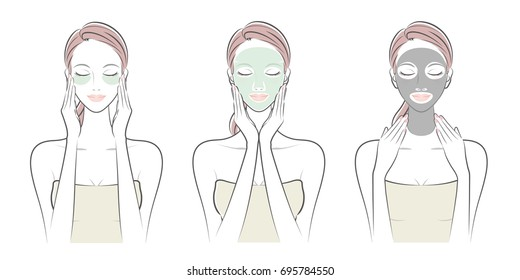 Expression of the woman / Skin care