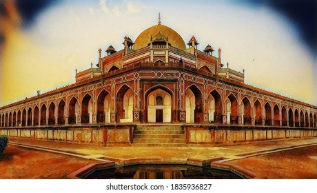 Exquisite ancient Humayun's Tomb is a mausoleum of the Mughal Emperor Humayun in Delhi, India. It is a Persian style architecture designed by Mirak Mirza Ghiyas and his son, Sayyid Muhammad.