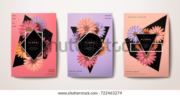 Exquisite chic classic reality floral poster and brochure design, book cover design, fashion poster, wedding card, vector illustration.