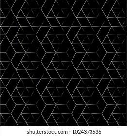 Exquisite, Luxury, Elegant, Elite, Deluxe geometric seamless pattern. Dark vector background.