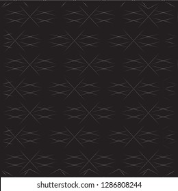 Exquisite, Luxury, Elegant, Elite, Deluxe geometric seamless pattern. Dark vector background