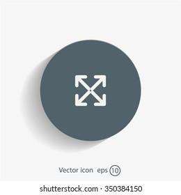 Extend, Re-size, Enlarge. Vector illustration