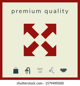 Extend, resize icon. Cross arrow sign.. Graphic elements for your design