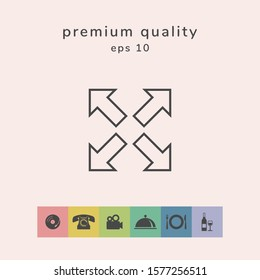 Extend, resize line icon. Graphic elements for your design