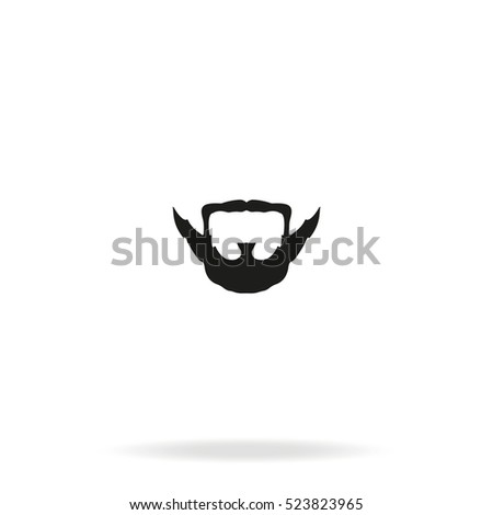 Extended Goatee Style Beard Mustache Icon Stock Vector Royalty Free