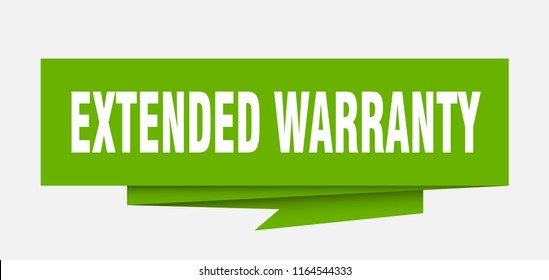 extended warranty sign. extended warranty paper origami speech bubble. extended warranty tag. extended warranty banner