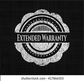 Extended Warranty written on a chalkboard