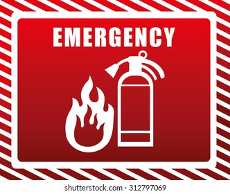 extenguisher for emergency design, vector illustration 10 eps graphic
