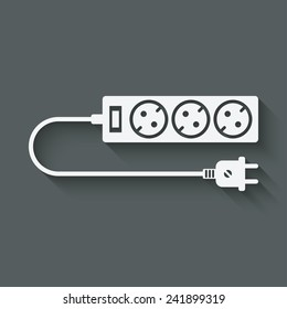 extension cord symbol - vector illustration. eps 10