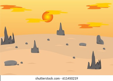 extensive land barren and dry afternoons