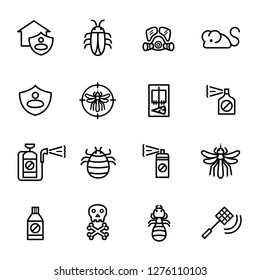 Exterminator, Pest control icon set