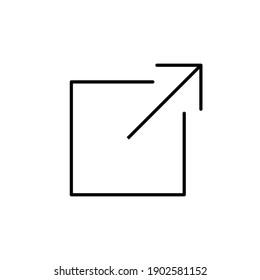 External link icon. link icon vector. hyperlink symbol