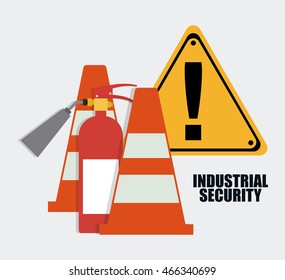 Extinguisher cone icon. Industrial Security. Colorfull Vector illustration