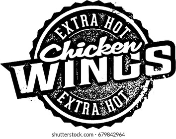 Extra Hot Chicken Wings Stamp
