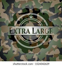 Extra Large camo emblem. Vector Illustration. Detailed.