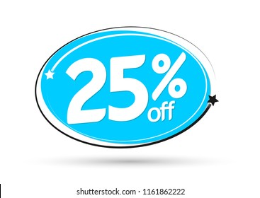 Extra Sale 25% off, banner design template, discount tag, vector illustration