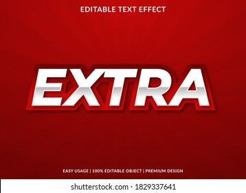 extra text effect template with bold and 3d style use for business logo and brand
