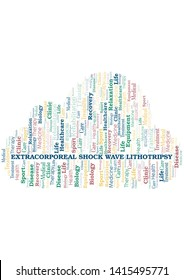 Extracorporeal Shock Wave Lithotripsy word cloud. Wordcloud made with text only.