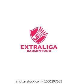 Extraliga badminton logo vector design