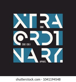 Extraordinary abstract geometric vector t-shirt and apparel design, typography, print, poster. Global swatches.
