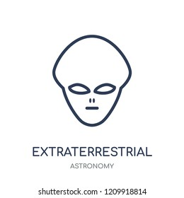 Extraterrestrial icon. Extraterrestrial linear symbol design from Astronomy collection.