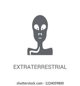 Extraterrestrial icon. Trendy Extraterrestrial logo concept on white background from Astronomy collection. Suitable for use on web apps, mobile apps and print media.