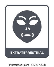 extraterrestrial icon vector on white background, extraterrestrial trendy filled icons from Astronomy collection, extraterrestrial simple element illustration