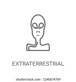 Extraterrestrial linear icon. Modern outline Extraterrestrial logo concept on white background from ASTRONOMY collection. Suitable for use on web apps, mobile apps and print media.