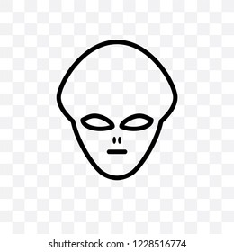 Extraterrestrial vector linear icon isolated on transparent background, Extraterrestrial transparency concept can be used for web and mobile