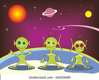Extraterrestrials of other galaxies