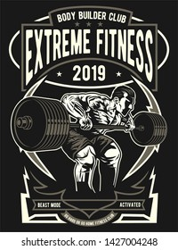 Extreme Fitness Sports Poster Design