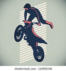 Extreme motorcycling illustration. Vector illustration.