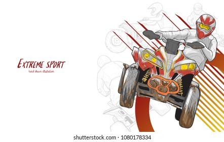 Extreme sport ATV background design