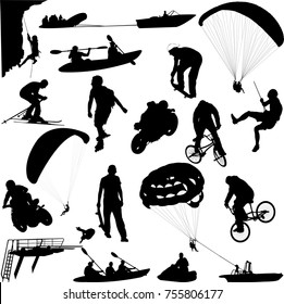 Extreme sport collection - vector